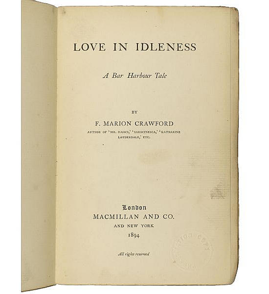 Love in Idleness.