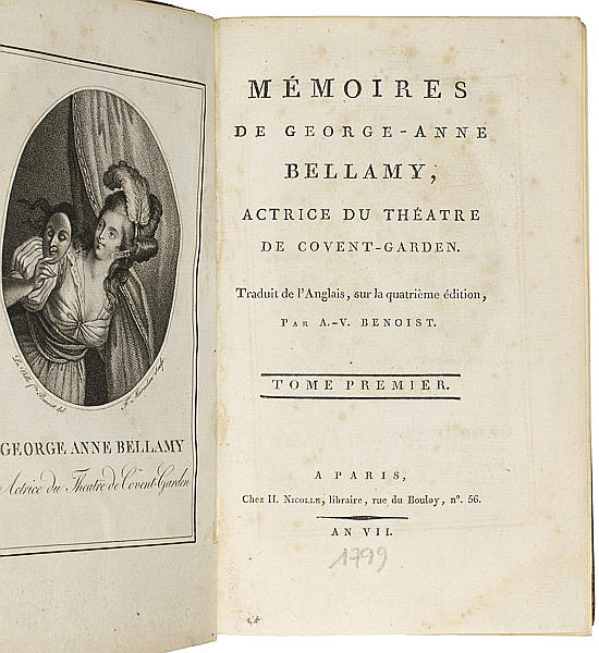 Mémoires de George-Anne Bellamy, Actrice du Theatre de Covent-Garden.