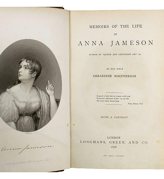 Memoirs of the Life of Anna Jameson.