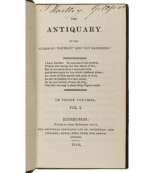 The Antiquary.