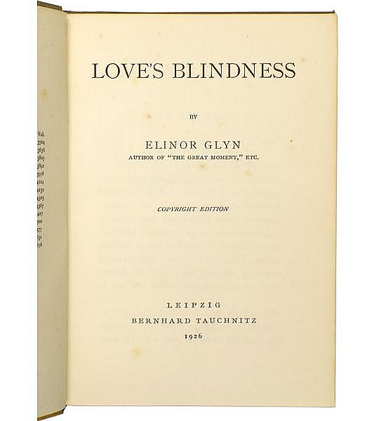 Love's Blindness.