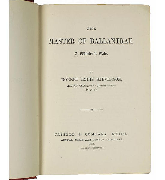 The Master of Ballantrae.