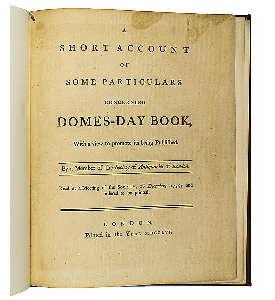 A Short Account of Some Particulars Concerning Domes-Day Book.