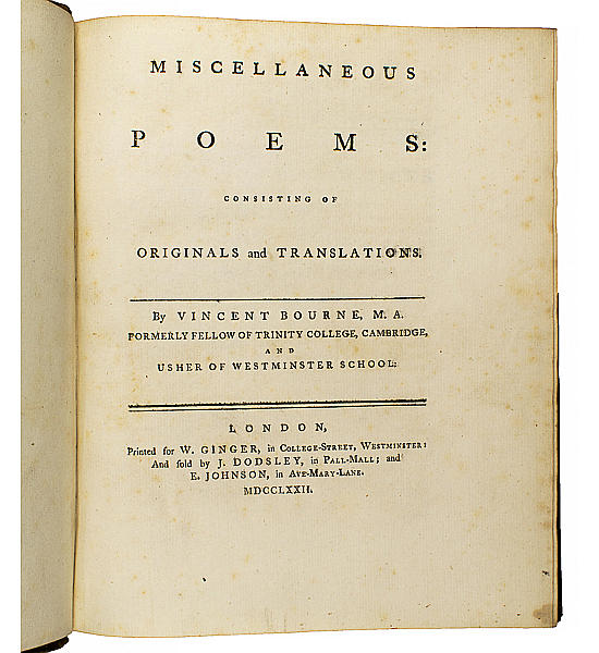 Miscellaneous Poems: