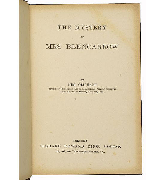 The Mystery of Mrs Blencarrow.