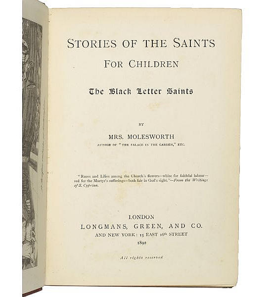 Stories of the Saints for Children;