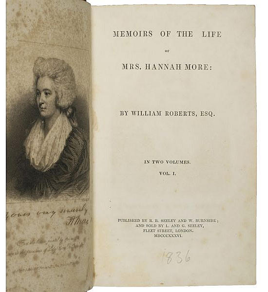 Memoirs of the Life of Mrs. Hannah More.