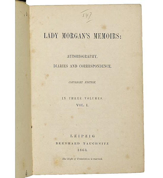 Lady Morgan's Memoirs: