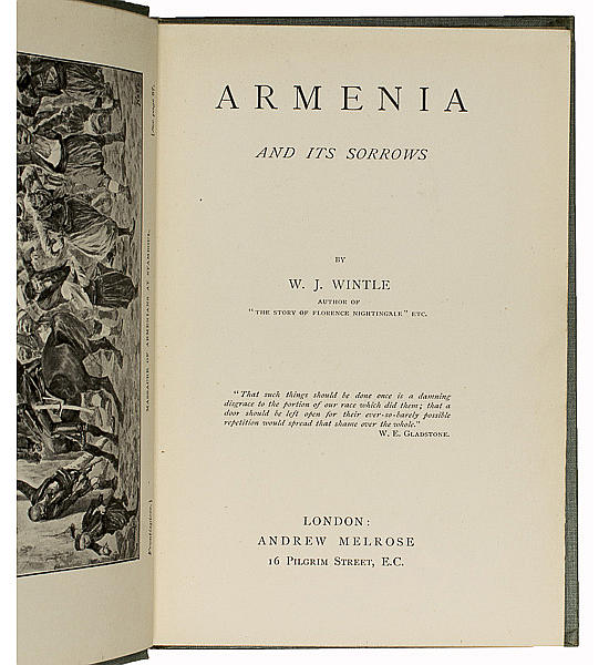 Armenia and its Sorrows.