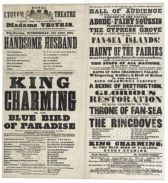 (King Charming.)  This Evening, Wednesday, Jan. 22nd, 1851,